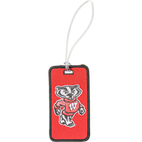 Image For Neil Enterprises, Inc. Fabric Bucky Badger Luggage Tag