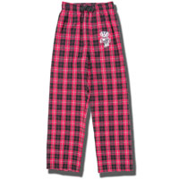 Image For Boxercraft Youth Bucky Badger Flannel Pants (Red/Black)