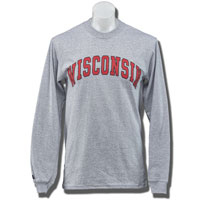 "Image For Blue 84 Long Sleeve ""Wisconsin"" T-Shirt 3X (Gray)"