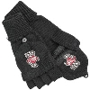 Image for Logofit Flip Top Bucky Badger Mittens (Black)