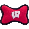 Image for All Star Dogs Wisconsin Badgers Small Fleece Bone Toy