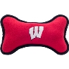 Image for All Star Dogs Wisconsin Badgers Large Fleece Bone Toy